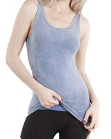 Washed Tank In Periwinkle Blue