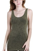 Washed Tank In Green