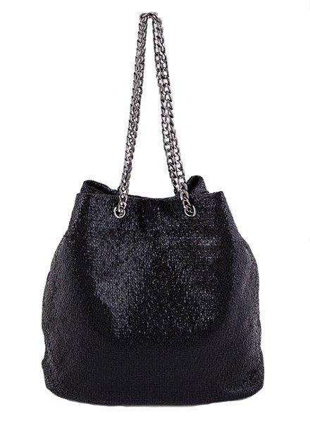 My Textured Bucket Bag In Black