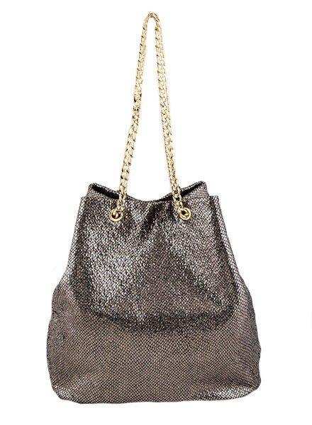 My Textured Bucket Bag In Gold