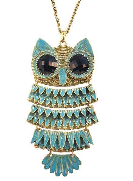 Mr. Giant Owl In Turquoise