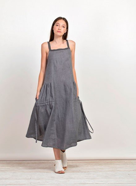 Gershon Bram Duncan Dress In Grey