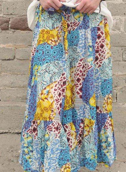 J.P. & Mattie Hippie Skirt In Patchwork Print