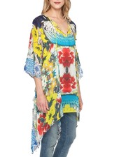 Johnny Was Johnny Was Flash Tie Tunic In Floral Print