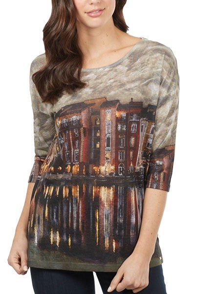 French Dressing Twilight In Venice Top In Amber