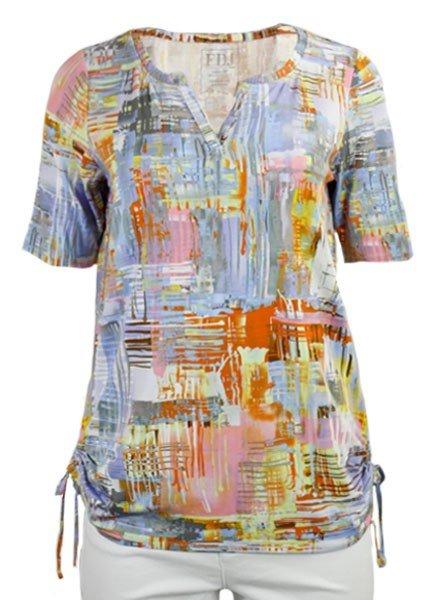 French Dressing Posh Pastel Print Top