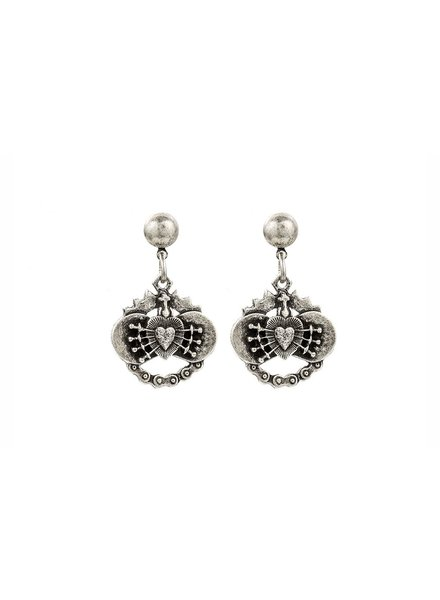 French Kande French Kande Silver Immaculate Heart Earrings