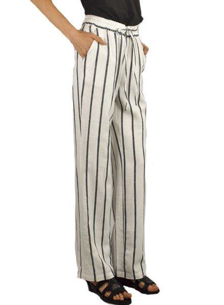 Renuar Linen Striped Pant