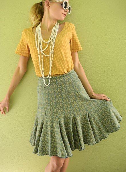 Effie's Heart Effie's Heart Seven Year Skirt In Seahorses