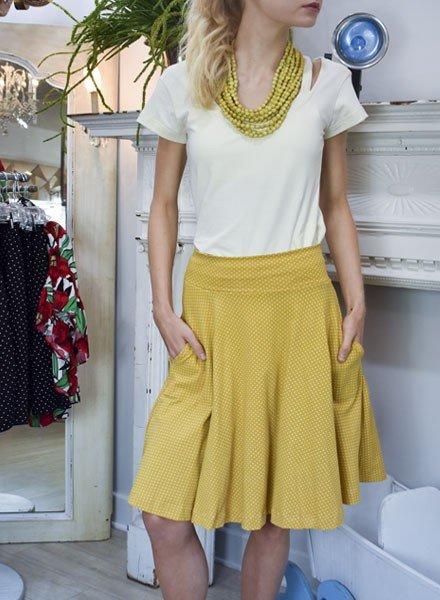 Effie's Heart Carnaby Skirt In Swiss Dot
