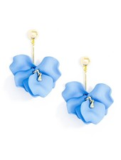 Pastel Petal Earrings In Light Blue