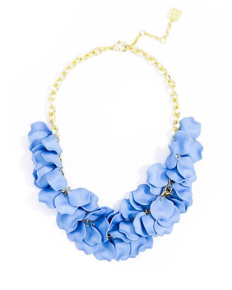Pastel Petals Necklace In Light Blue