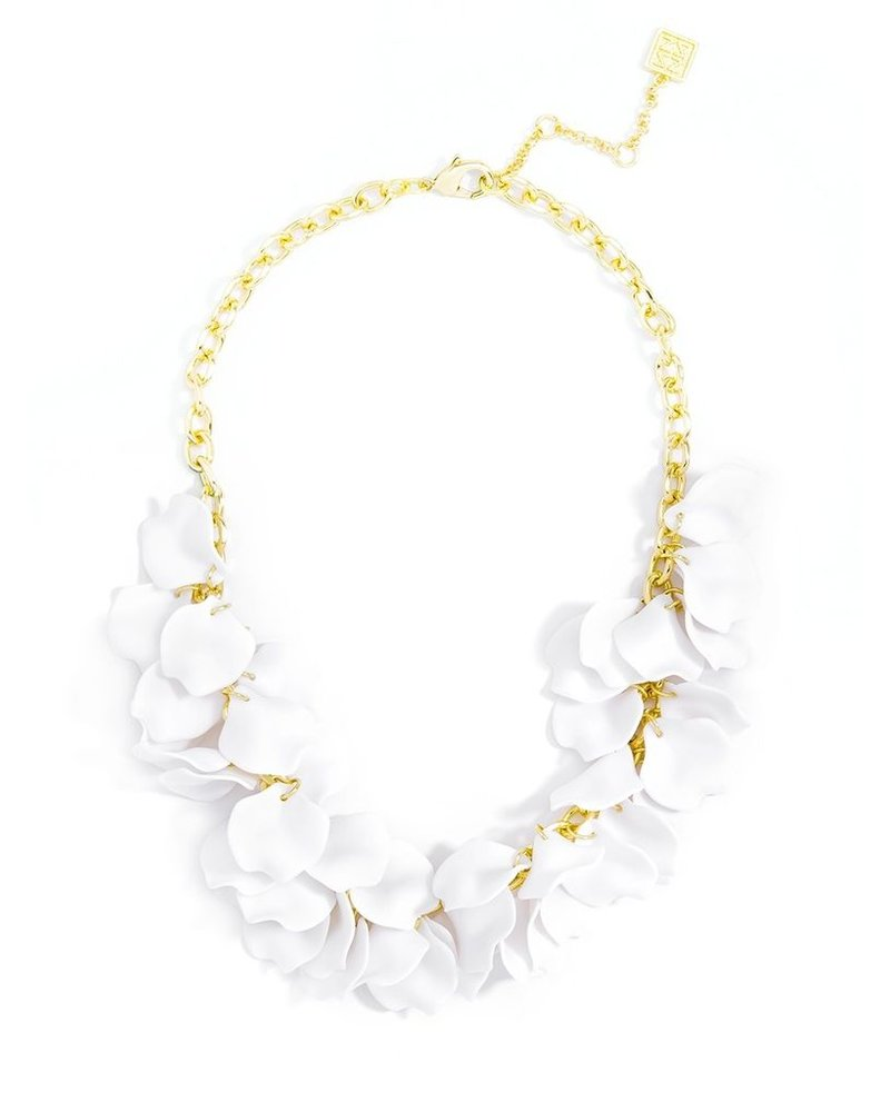 Pastel Petals Necklace In White