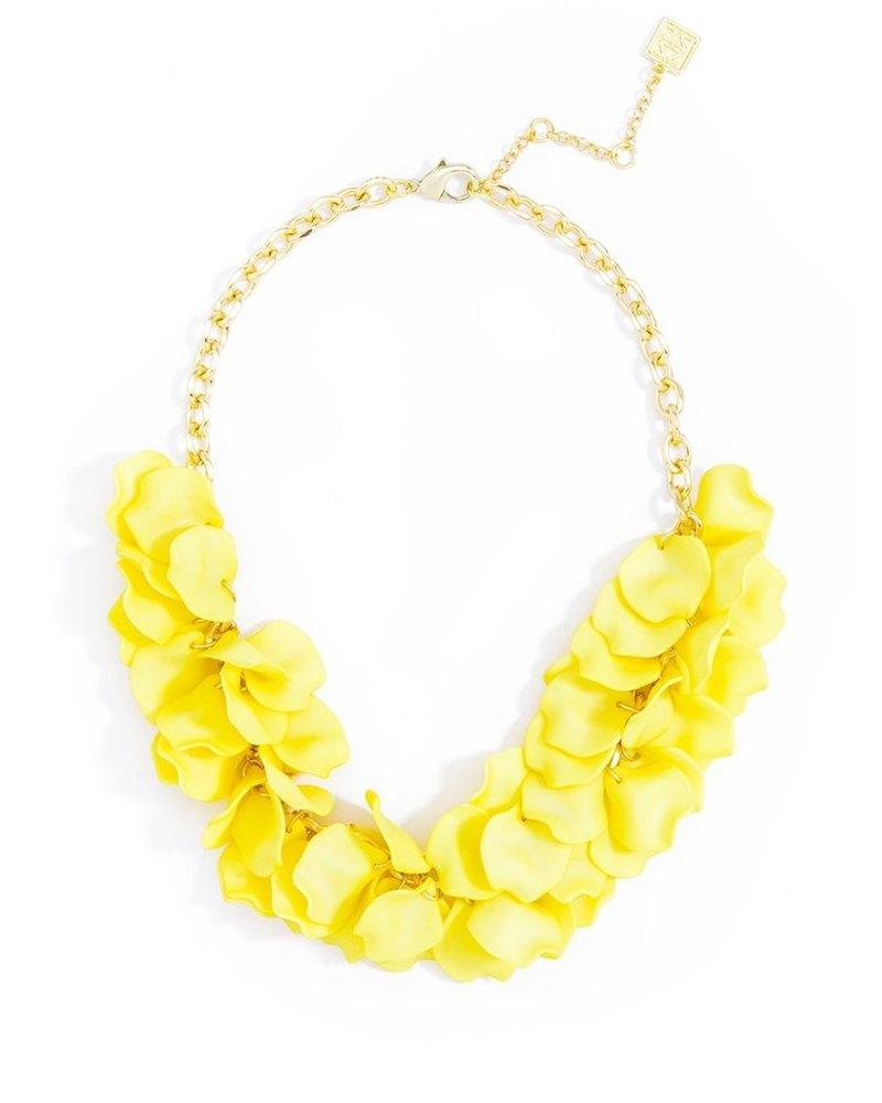 Pastel Petals Necklace In Yellow