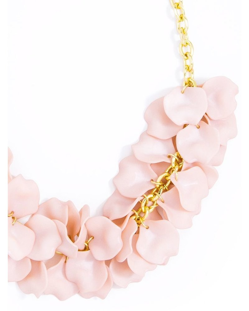 Pastel Petals Necklace In Rose