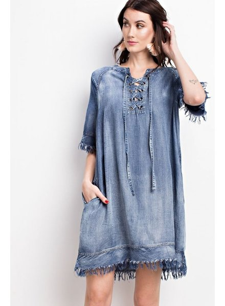 Easel My Easy Denim Dress