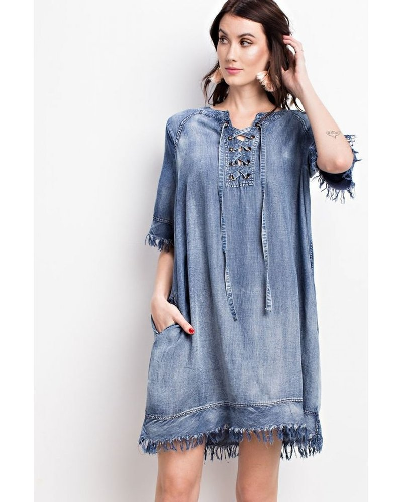 Easel My Easy Denim Dress