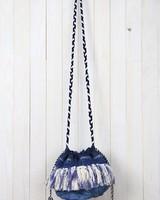 Tie Dye Fringe Drawstring Crossbody
