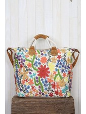 Embroidered Floral Weekender