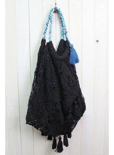 Crochet Lace Beach Bag