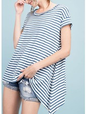 Oh So Sailor Top In Yacht Blue & Natural