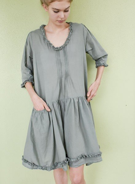J.P. & Mattie's Shirred Pocket Nina Dress In Fern