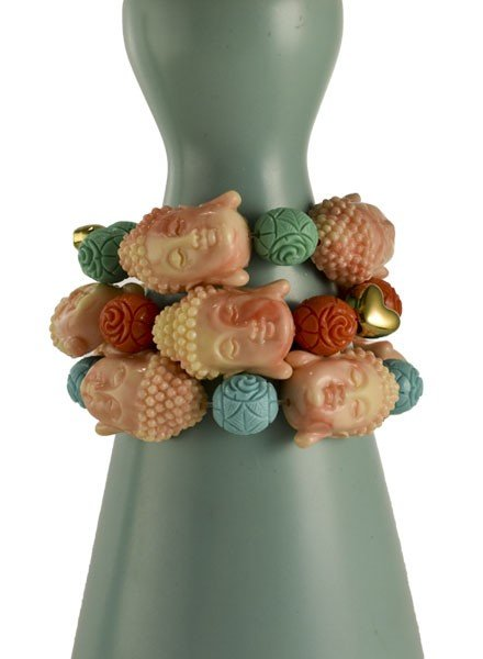 Siddhartha Bracelet In Pink Marbleized