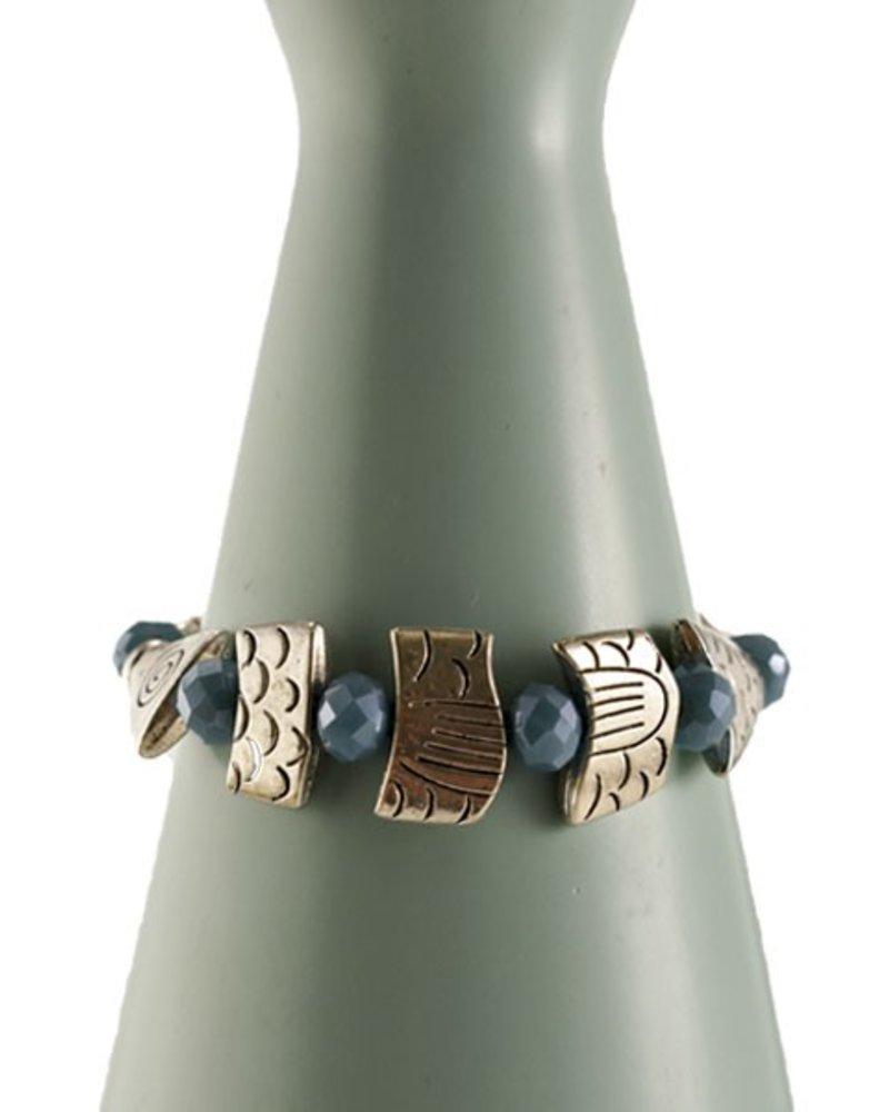 Betsy Gay Hart Fish Bones Bracelet