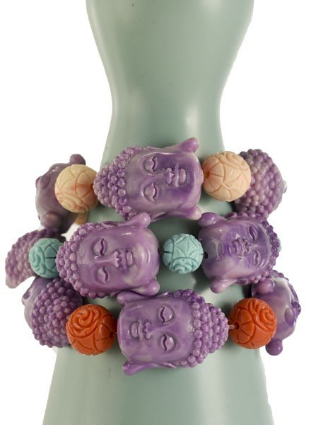 Betsy Gay Hart Siddhartha Bracelet In Purple