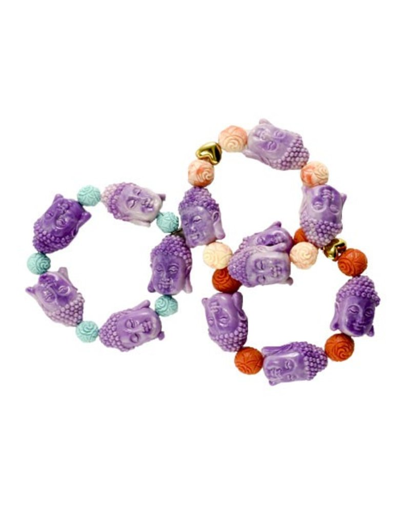 Betsy Gay Hart Siddhartha Bracelet In Purple