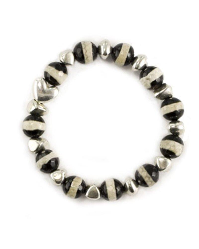 Betsy Gay Hart Zebra Bracelet