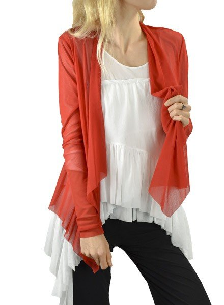 Petit Pois' Wrap Jacket In Pompei Red