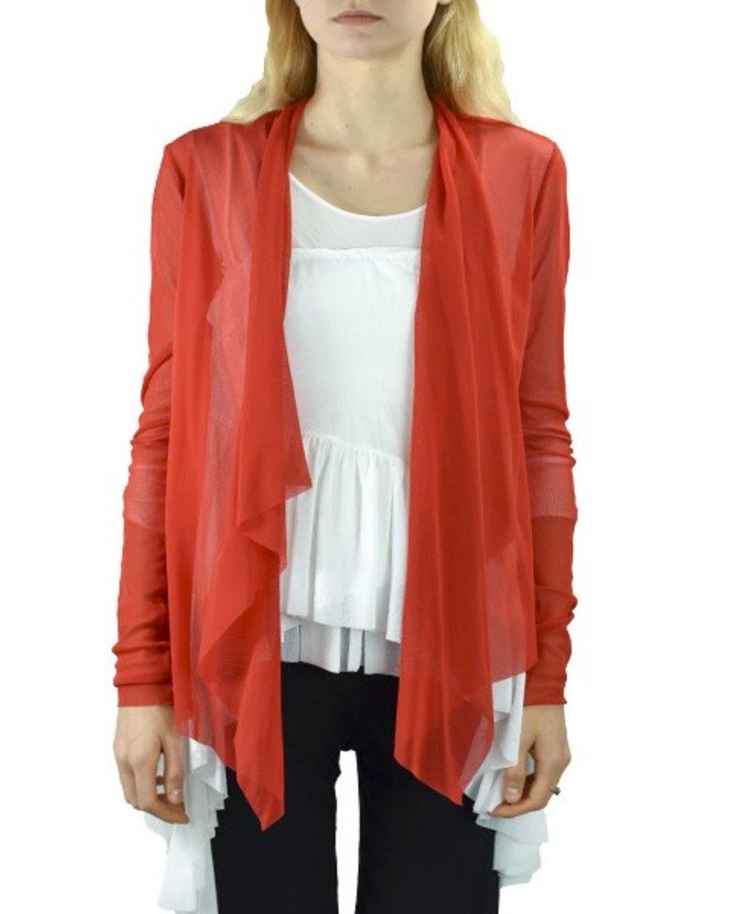 Petit Pois' Wrap Jacket In Pompei Red