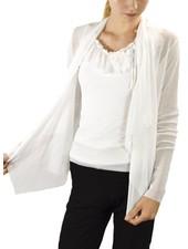 Petit Pois' Wrap Jacket In White