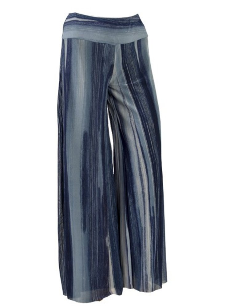Petit Pois' Palazzo Pants In Dancing Blue