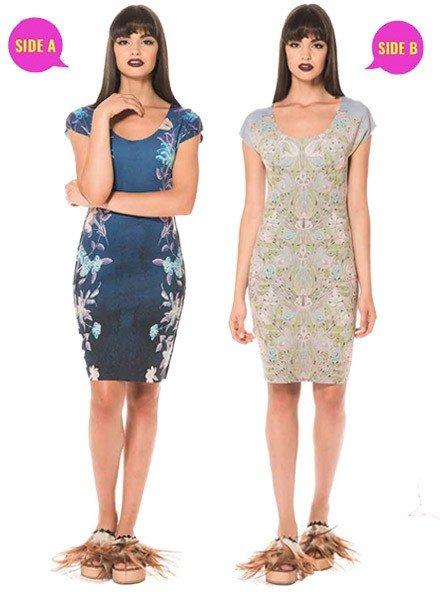 Animapop Reversible Blue Vine Dress