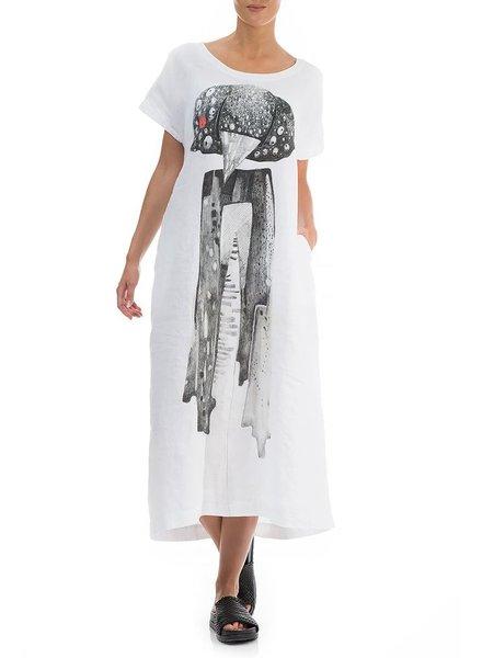 Griza Long Linen Micki Dress