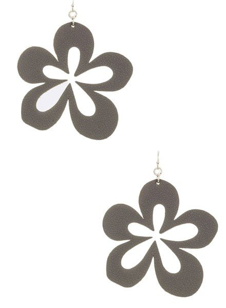 Cutting Flower Earrings In Gry