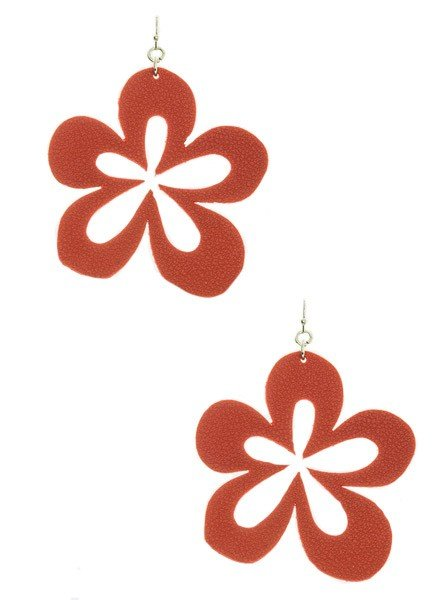 Cutting Flower Earrings In Red
