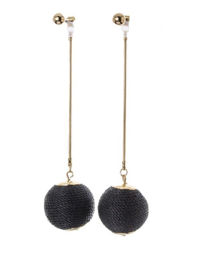 Soul Train Earrings In Black