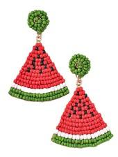 Merveille Summer Melon Beaded Earrings