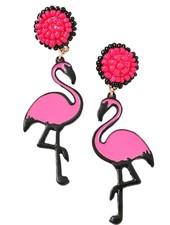 Merveille Flamingo Island Beaded Earrings