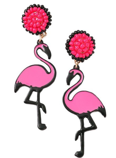 Flamingo Island Beaded Earrings