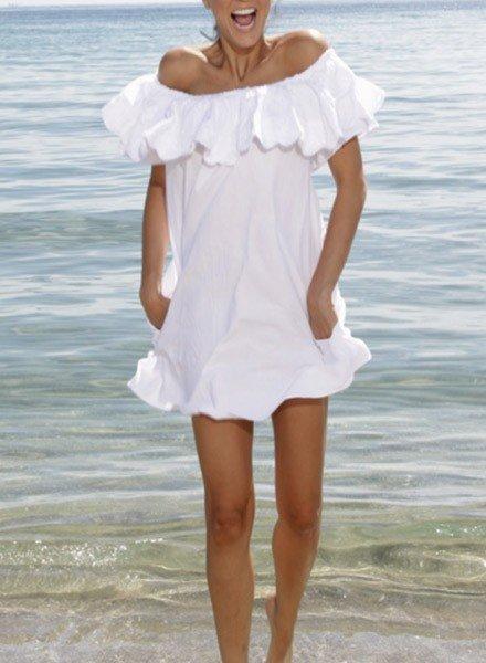 Giocam Mallorca Dress In White