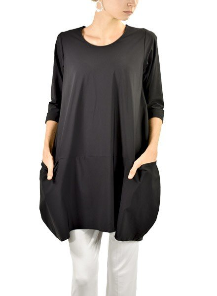 Comfy's Jason Portofino Tunic In Black