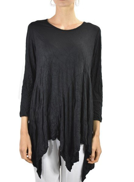 Comfy's Dee Tunic In Black Crinkle