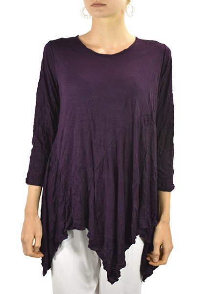 Comfy's Dee Tunic In Purple Onyx Crinkle