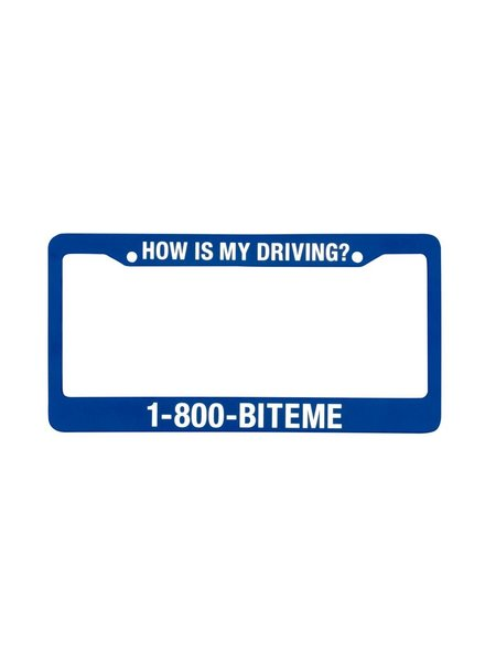 1-800 Bite Me License Plate Holder