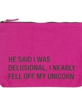 About Face Unicorn Cosmetic Bag