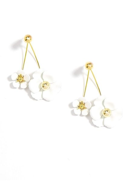 Wildflowers Drop Earrings In White